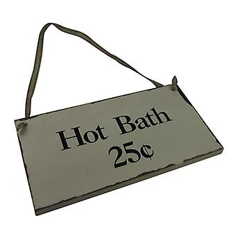 Heaven Sends Vintage Style Hot Bath Wooden Sign