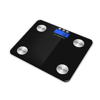 Kabalo Black 180kg Capacity Electronic Digital Multi-Function BODY FAT Composition Water Muscle Bone Calories BMI Analyser, Batteries Included! Stylish Premier Bathroom Scale, with blue backlight