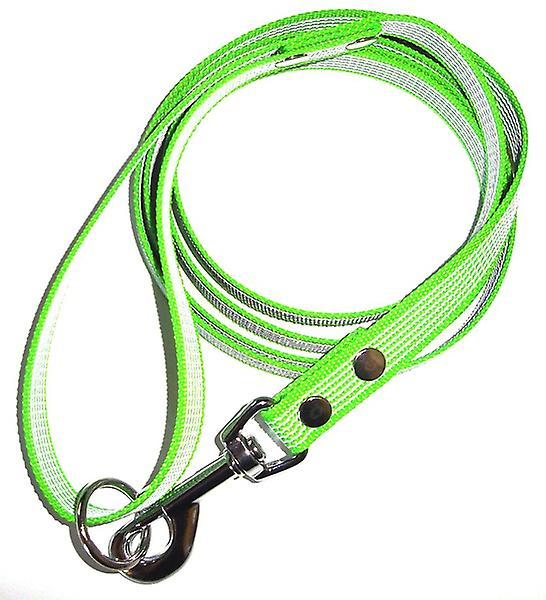 K9-Sport Super-Grip leash with handle, lime green