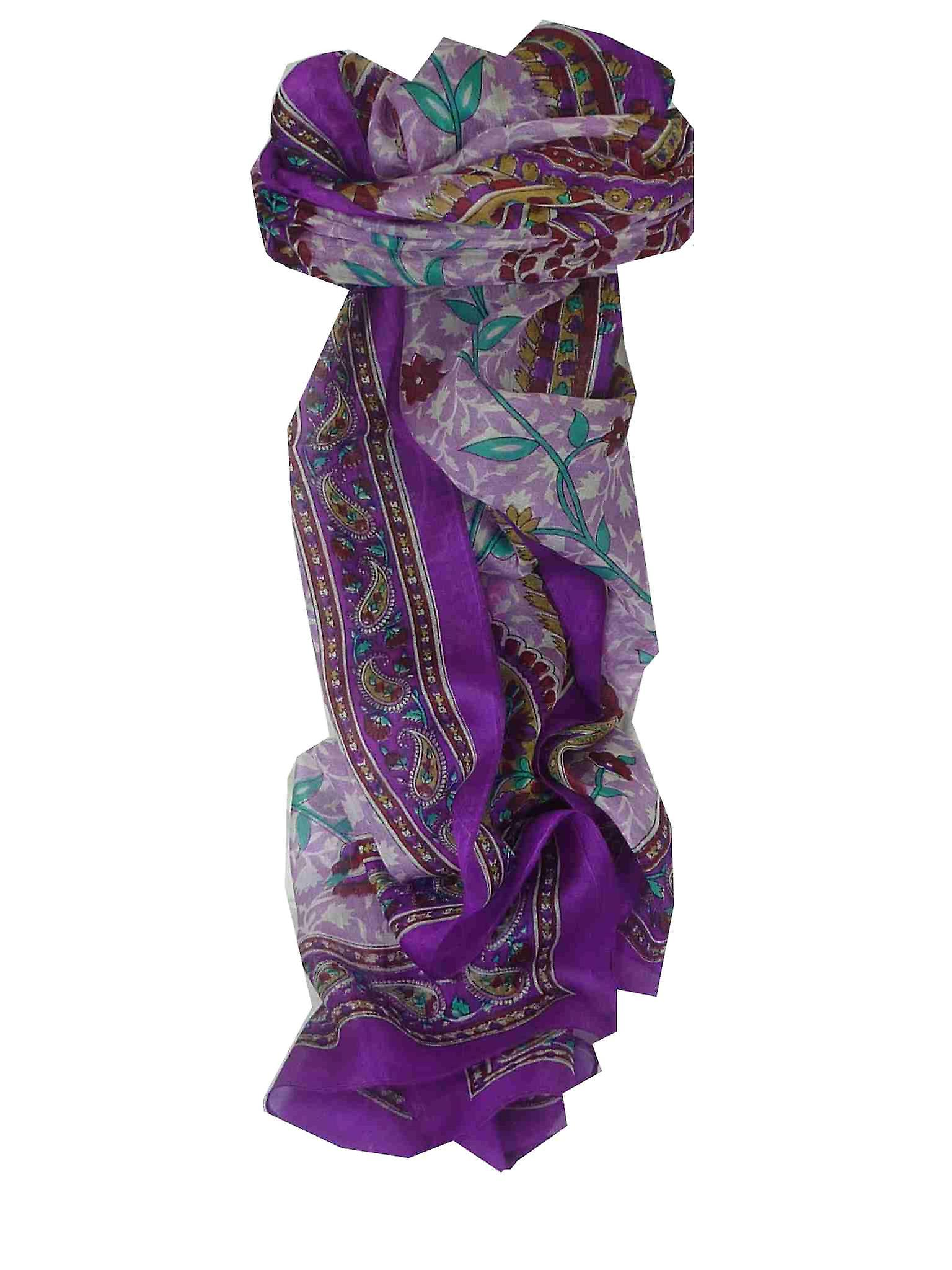 Mulberry Silk Traditional Long Scarf Sonja Violet by Pashmina & Silk