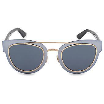 Christian Dior Chromsäure Cat Eye Metall Sonnenbrille RKZ9A 47