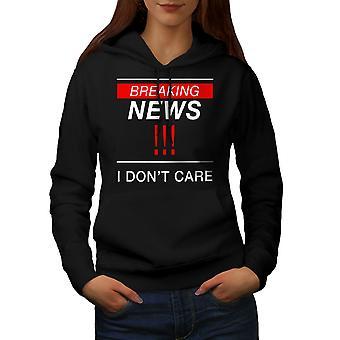 Breaking News Funny Women BlackHoodie | Wellcoda