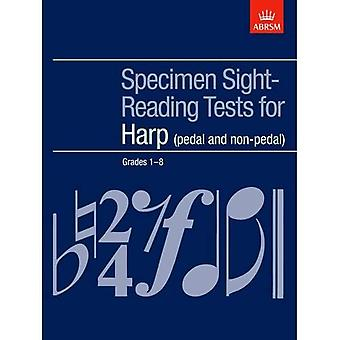 Specimen Sight-Reading Tests voor Harp, rangen 1-8 (pedaal en niet-pedaal) (ABRSM Sight-reading)