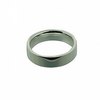 فضة 6 مم المحكمة شقة عادي ض حجم خاتم الزواج