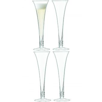 LSA International Prosecco Flutes - Set Of 4 - Clear