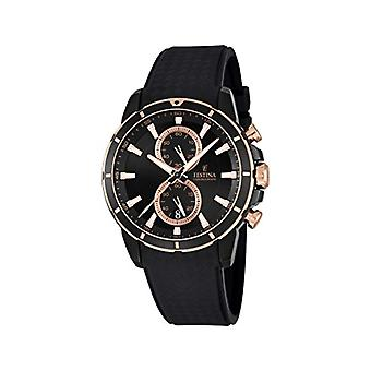 שעון קוורץ של festina גברים הכרונוגרף עם רצועת פלסטיק F16852-1