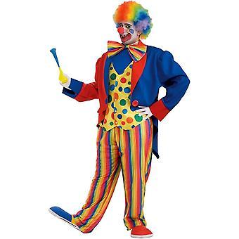 Lyse Clown voksen addisjonstegn størrelse drakt