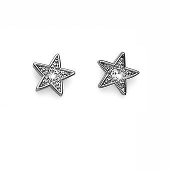Oliver Weber Post Earring Stella Rhodium Crystal