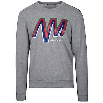 Antony Morato Grey Logo Crew Neck Sweatshirt