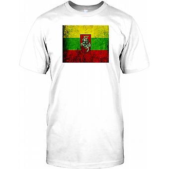 Litauisk Grunge virkning Flag - Litauen Herre T-shirt