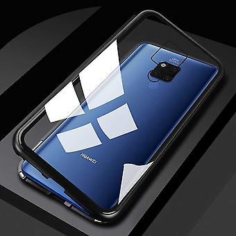 Para Huawei companheiro 20 X / mate 20 ímã X / metal / vidro caso para-choque preta / transparente caso capa nova