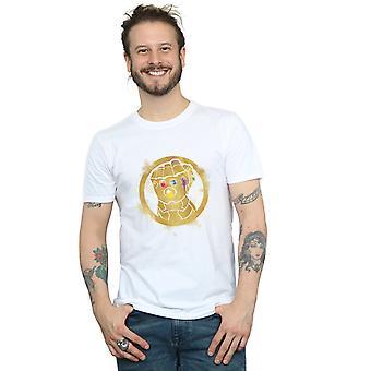 Marvel Men ' s angyalok végjáték festett Infinity Gauntlet T-shirt