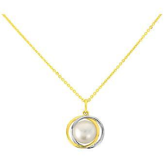 Mark Milton Pearl Knot hänge-gult guld/silver