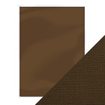 Handwerk perfekte A4 Weben strukturierte Karte Espresso braun Tonic Studios