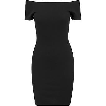 Urban Classics Damen Sommerkleid Off Shoulder Rib