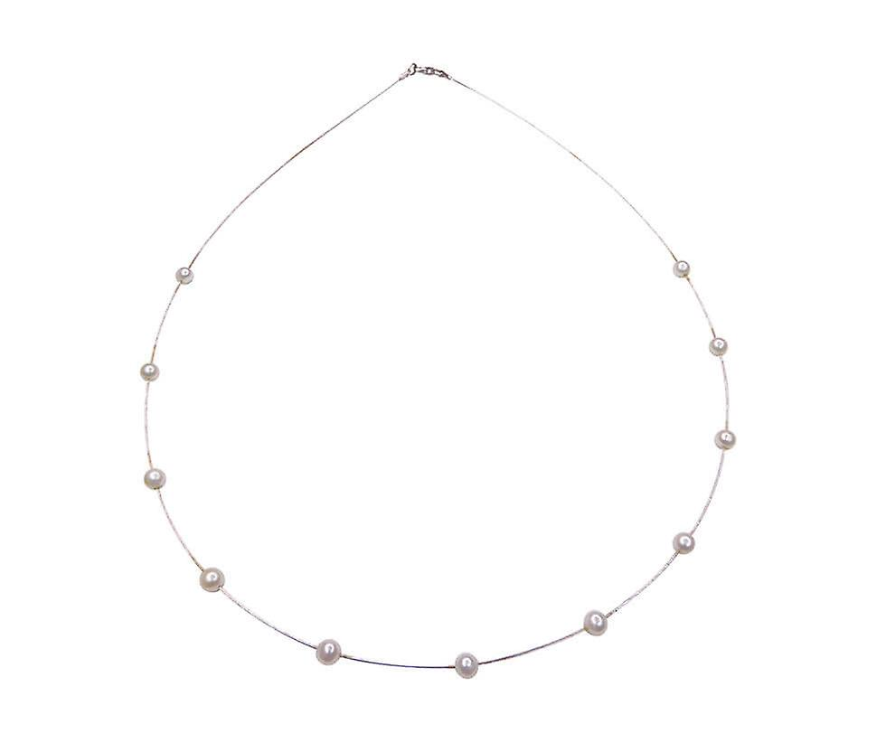 White gold necklace with pearls (copy)