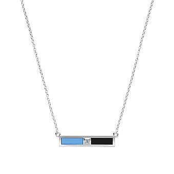 Johns Hopkins University Diamond under halsband i Sterling Silver design av BIXLER
