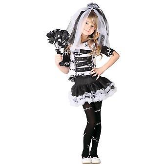 Ragazze Halloween Sposa Sposa Fancy Abito Costume