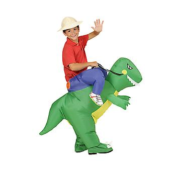 Dinosaurie-barn (Luftblåst uppblåsbar kostym med hatt)