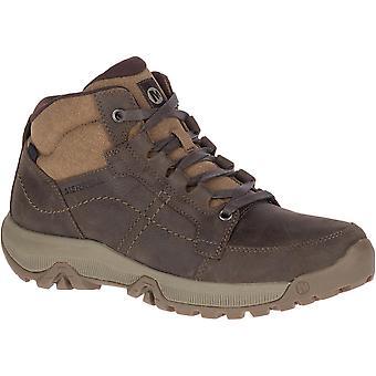 Merrell Mens Anvik Pace Mid Waterproof Leather Walking Boots