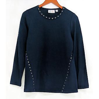 Denim & Co. Damen's Top XXS Langarm Rundhalsausschnitt Blau A283466