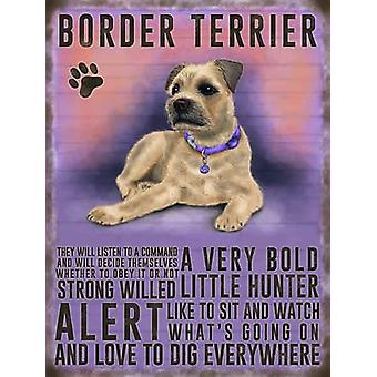 Medium Wall Plaque 200mm x 150mm - Border Terrier by The Original Metal Sign Co