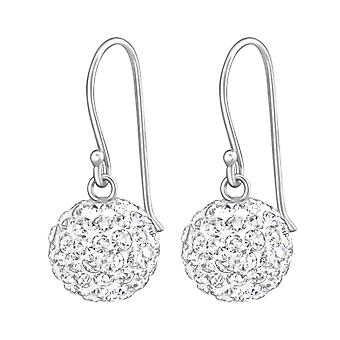 Crystal Ball - 925 Sterling Silver Crystal Earrings - W36907X