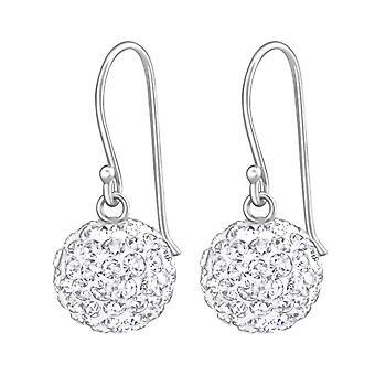 Bola de cristal - Pendientes de cristal de plata de ley 925 - W36907X