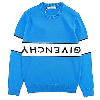 Logotipo Reverso de Givenchy Suéter Azul/Blanco