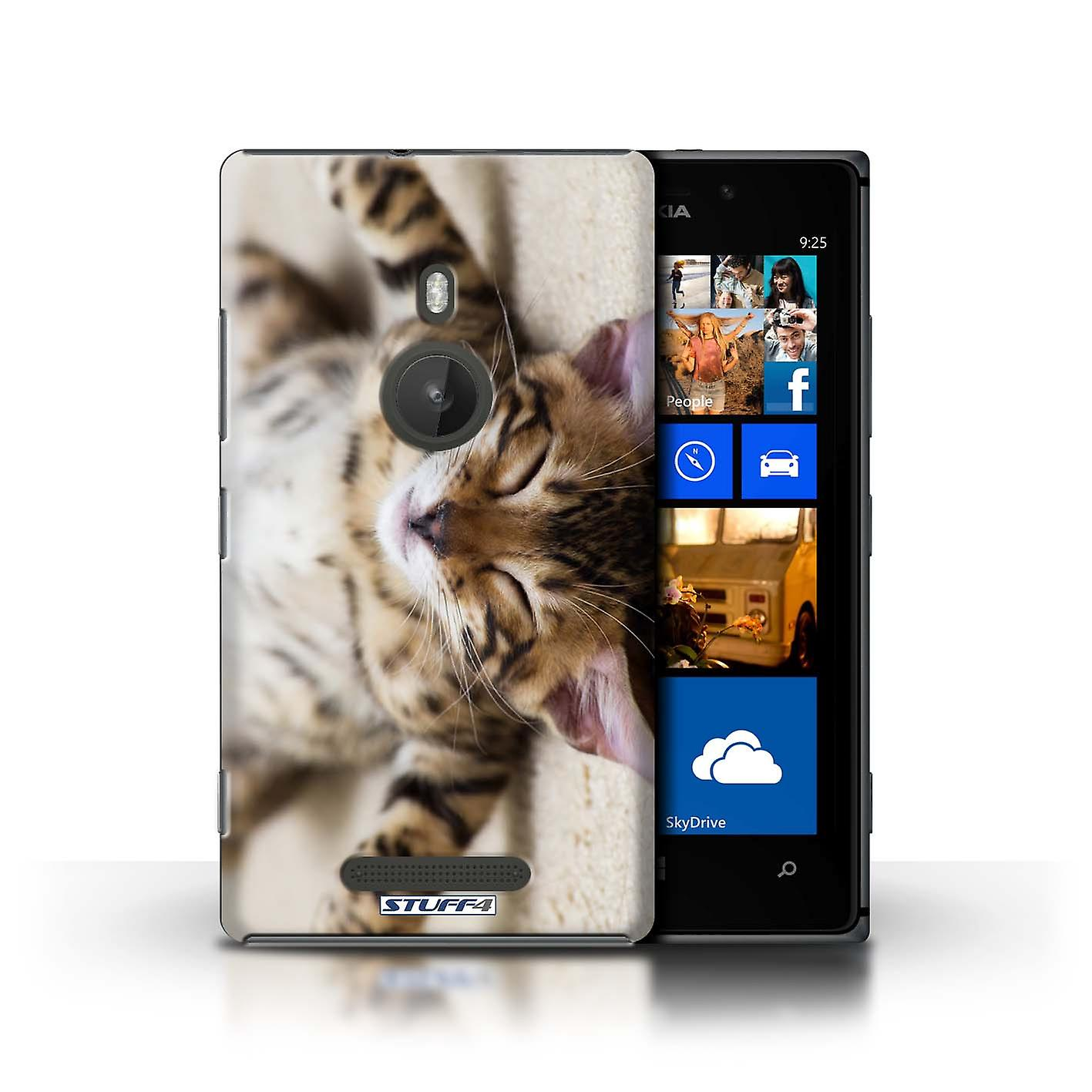 STUFF4 Case/Cover for Nokia Lumia 925/Flat Out/Cute Kittens