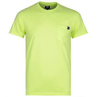 Edwin Lime Green Garment tvättad Pocket tee