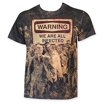 Kävely kuollut Sublimated, olemme kaikki tartunnan t-paita
