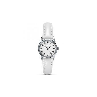 Sekonda dames witte wijzerplaat wit lederen riem horloge