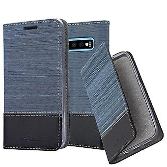 Cadorabo Hülle für Samsung Galaxy S10 PLUS hülle case cover - Handyhülle mit Magnetverschluss, Standfunktion und Kartenfach – Case Cover Schutzhülle Etui Tasche Book Klapp Style