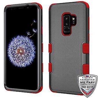 MYBAT Natural Negro/Rojo TUFF Hybrid Phone Protector Cubierta para Galaxy S9 Plus