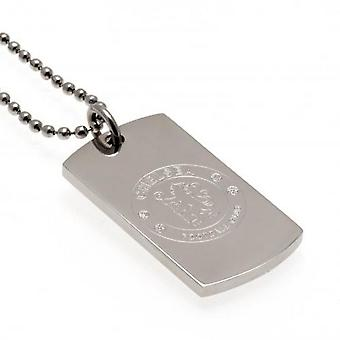 Chelsea FC Unisex Adults Engraved Dog Tag And Chain