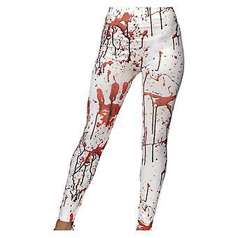 Womens Halloween Horror Leggings mit Blut Splatter