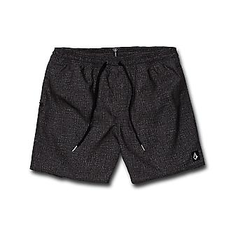 Volcom Lido Volley 16 Elasticated Boardshorts in Charcoal Heather