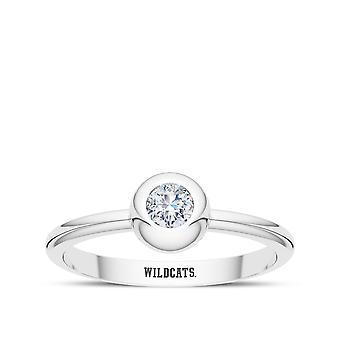 Anillo de diamantes de la Universidad de Kentucky en diseño de plata de ley por BIXLER