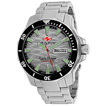 Seapro Men's Scuba Dragon Diver Limited Edition 1000 Meters Silver Dial Watch - SP8312S