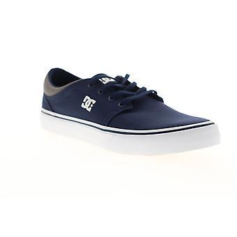 DC Trase TX mens blauw canvas Lace up atletische skate schoenen