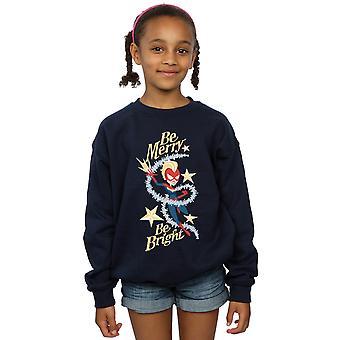 Marvel Girls Be Merry Be Bright Sweatshirt