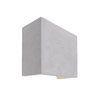 LED UpDown wand lamp Quinta II 6 W 125x125mm grijs beton kan worden overcoatted
