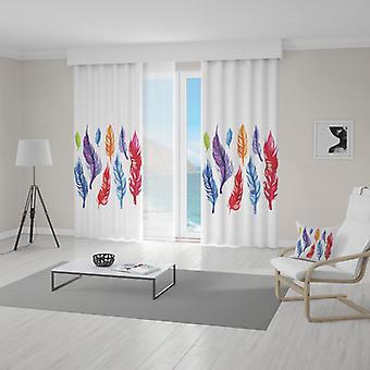 Meesoz Vorhänge - Colorful Feathers III