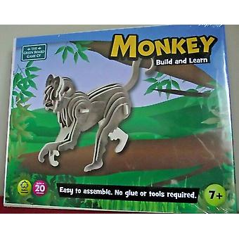 Monkey Build and Learn Green Board Game