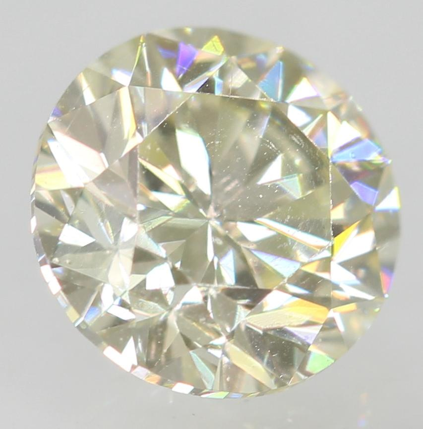 Certified 0.51 Carat J VVS1 Round Brilliant Enhanced Natural Loose Diamond 4.96m