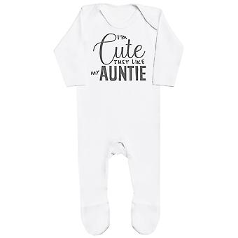 I'm Cute Just Like My Auntie Baby Romper