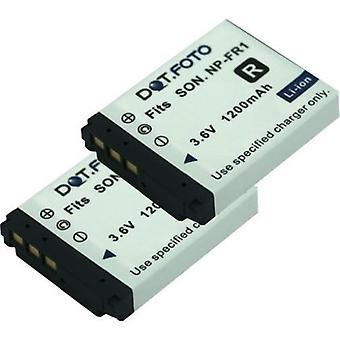 2 x Dot.Foto Sony NP-FR1 wymiana baterii - 3.6V / 1200mAh