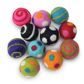 "Dharma Dog Karma Cat Pack of 6 1.5"" Balls Toy For Cats & Small Dogs"