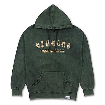 Diamond Supply Co Gold Skull Hoodie Green